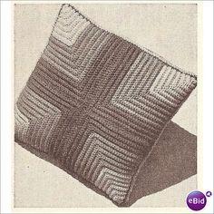 Crochet Pillow Pattern Ribbed Pillow: