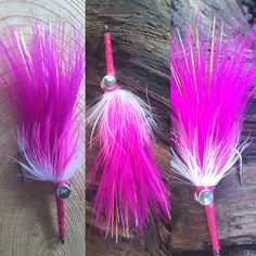 Nate's Fatty Flies: Pink Bass Tarpon Fly & I also make Top Water Fishing Fly, Deer Hair Poppers, Floating Bass Fly, Frog Diver by Natesfattyflies on Etsy