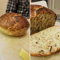 Hrnčekový chlieb pre začiatočníkov • recept • bonvivani.sk Banana Bread, Desserts, Food, Hampers, Tailgate Desserts, Deserts, Essen, Postres, Meals