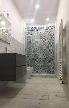 Cementine 20 di Fioranese Ceramica Bathroom Tile Designs, Bathroom Design Small, Modern Kitchen Design, Interior Design Kitchen, Tiny Apartments, Industrial House, Love Home, Interior Design Inspiration, Home Renovation
