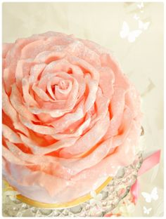 Cherie Kelly's Strawberry Chocolate Rose Petal Cake. I WANT THESE ALL OVER MY CAKE!!!