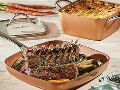 Easter Rack of Lamb Recipes Lamb Recipes, Chef Recipes, Baking Pans Set, Copper Cooking Pan, Buttermilk Cornbread, Square Pan, Rack Of Lamb, Pan Set, Recipe Using