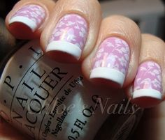 Stamping french nail art manicure. Nails. www.SimpleNailArtTips.com