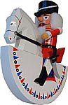 Original Olbernhauer rider flax (red) Nutcracker