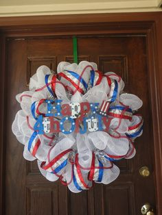 Fourth of July Deco Mesh Wreath