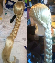 Rapunzel Tangled Inspired Adult Costume Wig - A True Enchantment Original. $575.00, via Etsy.
