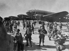 March 24, 1945- preparing for departure for jump near Wesel. Germany- Operation Varsity - 513th PIR