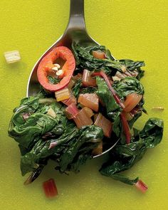 Spicy Chard with Ginger