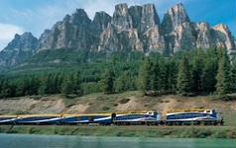 Rocky Mountaineer, The only way to experience the Rockies!  Coast to Coast by Rail, Westbound.