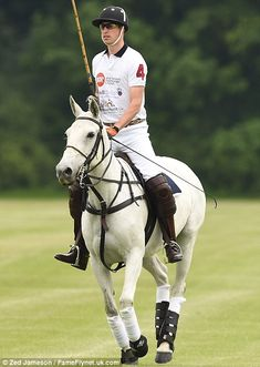 dailymail: Duke of Cambridge, Cirencester Park Polo Club, Gloucestershire, June 15, 2014.