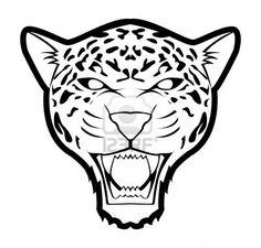 Illustration of jaguar vector art, clipart and stock vectors. Cheetah Logo, Cheetah Face, Mondrian Art Projects, Aztec Drawing, Jaguar Tattoo, Rainforest Animals, Expo, Art Images, Vector Art