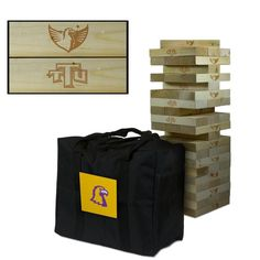 Tennessee Technological University TTU Golden Eagles Giant Wooden Tumble Tower Game