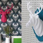 DIY: Passo a passo para fazer uma cabeça de alce de papel incrível para decoração