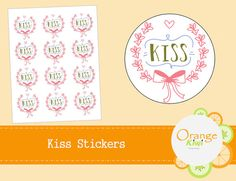 Items similar to Kiss Stickers - Wedding Stickers - Envelope Seals - Party Favor Stickers on Etsy Wedding Stickers, Seals, Planner Stickers, Party Favors, Envelope, Kiss, Envelopes, Harbor Seal, A Kiss
