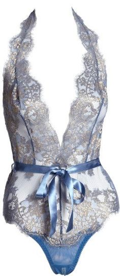Women's Blue Iana Lace Playsuit