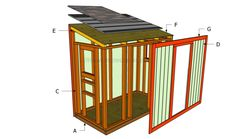 This step by step woodworking project is about how to build a chicken coop plans free. Building a lean to chicken coop out of wood will enhance the look of your yard. Chicken Coop Plans Free, Cheap Chicken Coops, Chicken Coop Blueprints, Small Chicken Coops, Chicken Barn, Portable Chicken Coop, Backyard Chicken Coops, Building A Chicken Coop, Chickens Backyard