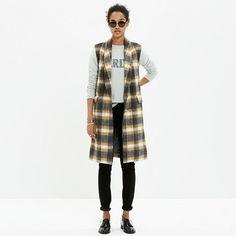 Rachel Comey Crest Plaid Vest