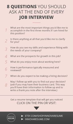 Questions you should ask at the end of every job interview. Need a resume that will land you a job interview? Informations About 8 Questions You Should Ask At Every Job Interview Pin You can easily us Job Interview Preparation, Interview Skills, Job Interview Questions, Job Interview Tips, Job Interviews, Preparing For An Interview, Interview Tips Weaknesses, Hairstyles For Job Interview, Career Advice