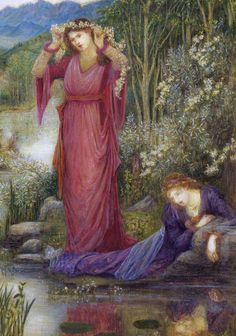 Marie Spartali Stillman (English, 1844-1927). Dante's Vision of Leah and Rachel (detail), 1887