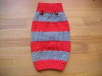 How to Knit a Dog Sweater...free pattern