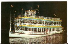 1963 Postmarked Postcard Southern Belle Showboat Fort Lauderdale Florida FL…