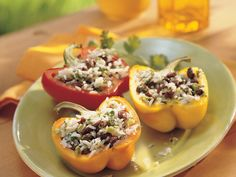 Grilled Black Bean- and Rice-Stuffed Peppers - 3 pt for each 1/2 pepper serving.  This is so delicious!  I like to add 2 Jennie-O Fresh Italian Sausage Links, crumbled and sauteed.  I also sub 1 can of Italian Stewed Tomatoes for the plum tomato and cilantro.