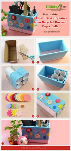An easy craft idea to make your desk clean!