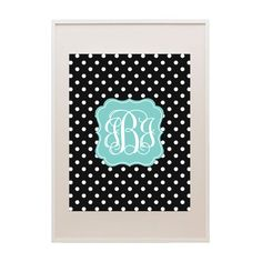 Download and print this free polka dot printable monogram using our FREE monogram maker!