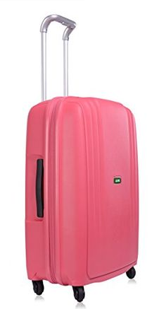 cb5a3bd5f3c Special Offers - Lojel Streamline Polypropylene Medium Upright Spinner  Luggage Pink One Size For Sale -