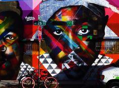 Miami Street. #Biggie & #Tupac mural.