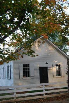Second Street School. Waterford, VA. One room schoolhouse