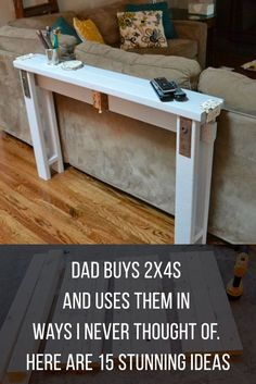 Creative Ways To Use A Around The House are so versatile - here are some great DIY projects ideas to enhance your home! are so versatile - here are some great DIY projects ideas to enhance your home! Diy Wood Projects, Furniture Projects, Home Projects, Diy Furniture, Diy Projects On A Budget, Building Furniture, Furniture Logo, Furniture Layout, Upcycled Furniture