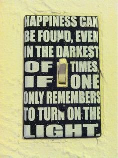I'm in love with my new light switch cover! - Imgur