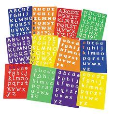 Awesome Alphabet Stencils - OrientalTrading.com $16.00 for a dozen