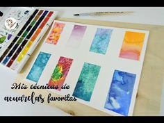 TÉCNICAS INCREÍBLES PARA PINTAR CON ACUARELAS | YOUR CREATIVE CHANNEL - YouTube