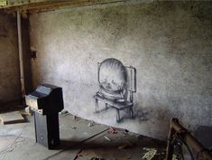 """Dubbed the """"French Banksy"""" due to his similar approach to street art in terms of tone and message, multi. Banksy, Best Graffiti, Street Art Graffiti, Toulouse, Art Français, World Street, French Street, Best Street Art, Art For Art Sake"""