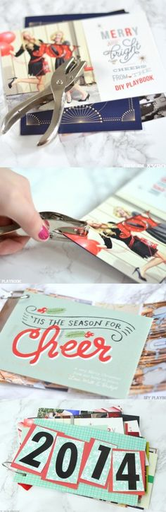 Don't throw away those Christmas cards. Instead make a book for each year with this easy DIY tutorial