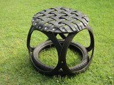 Resultado de imagem para arte com pneus