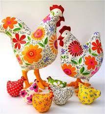 """Résultat de recherche d'images pour """"les poules fleuries en feutrine"""""""