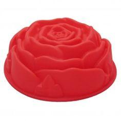 Forma de Silicone para Bolo em Formato de Rosa