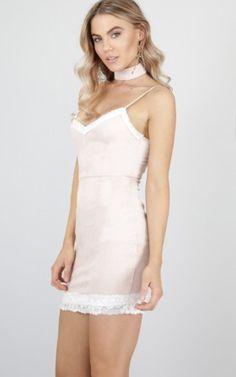 Centuries dress in blush velvet