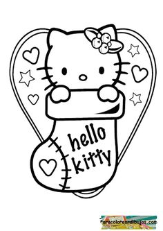 interactive magazine hello kitty christmas coloring sheets christmas printables pinterest christmas coloring sheets hello kitty christmas and