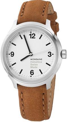 Mondaine Watch Helvetica No1 Bold 34  mondaine  watch  watches  helvetica   no1  bold34  brown  leather  mens  luxury  designer  design  style   fashion ... fe2c5780b7