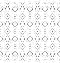 Seamless Monochrome Geometric Pattern vector image on VectorStock Geometric Mandala Tattoo, Mandala Tattoo Design, Graphic Patterns, Print Patterns, Dot Art Painting, Silhouette Vector, Geometric Designs, Pattern Art, Vector Free