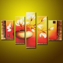 Flower multi panel abstract art, Price: $389.00, Shipping: Free Shipping, Size of Parts: 30cm x 50cm x 2 panels + 25cm x 70cm x 2 panels + 25cm x 80cm x 1 panel, Total Size (W x H): 135cm x 80cm, Delivery: 14 - 21 Days, Framing: Framed & Ready to Hang!  Not a Print - our artists are professionally trained and use the best oil paints. http://www.directartaustralia.com.au/