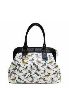 Hola Bird print overnight bag