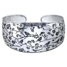 Handcrafted Sterling Silver Songbird Cuff Bracelet Body Candy. $388.00