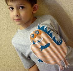 crafts for boys dino tee - Red Ted Art's Blog
