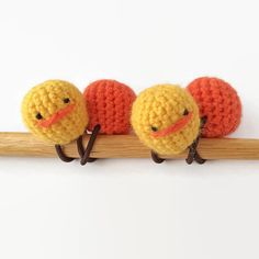 Amigurumi Garbanzo Hair Elastics  Set of 2 by KnKCraftsAndDesigns