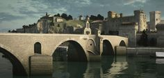 Today, only four arches remain of the famous bridge of Avignon (southeasternFrance), which in the Middle Ages, was over 900 m long to cross the entire Rhône river. Following a four-year research program that mobilized historians, archaeologists, architects, geologists and engineers, the first digital reconstruction of this historical bridge was just completed.
